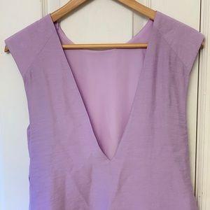 Zara lavender open back top size small